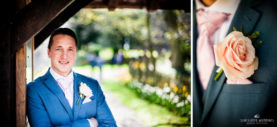 Groom portrait with beautiful button-hole flower