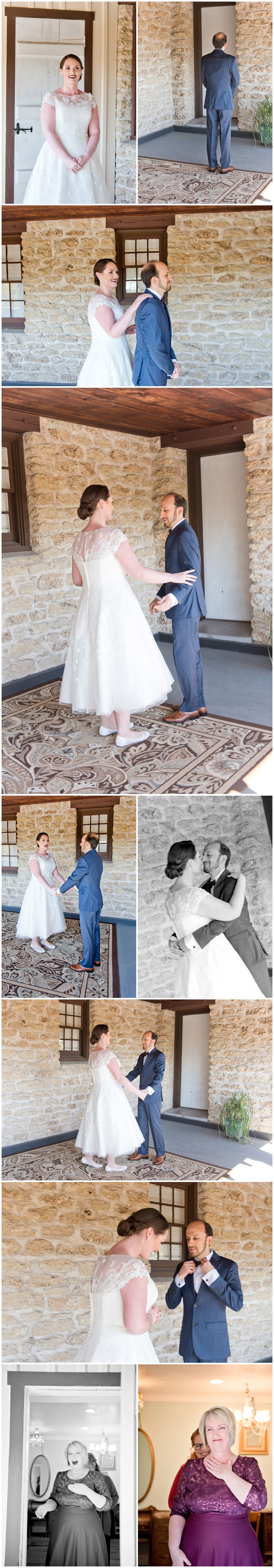 Bride and Groom First Look Fort Worth Wedding Photographer