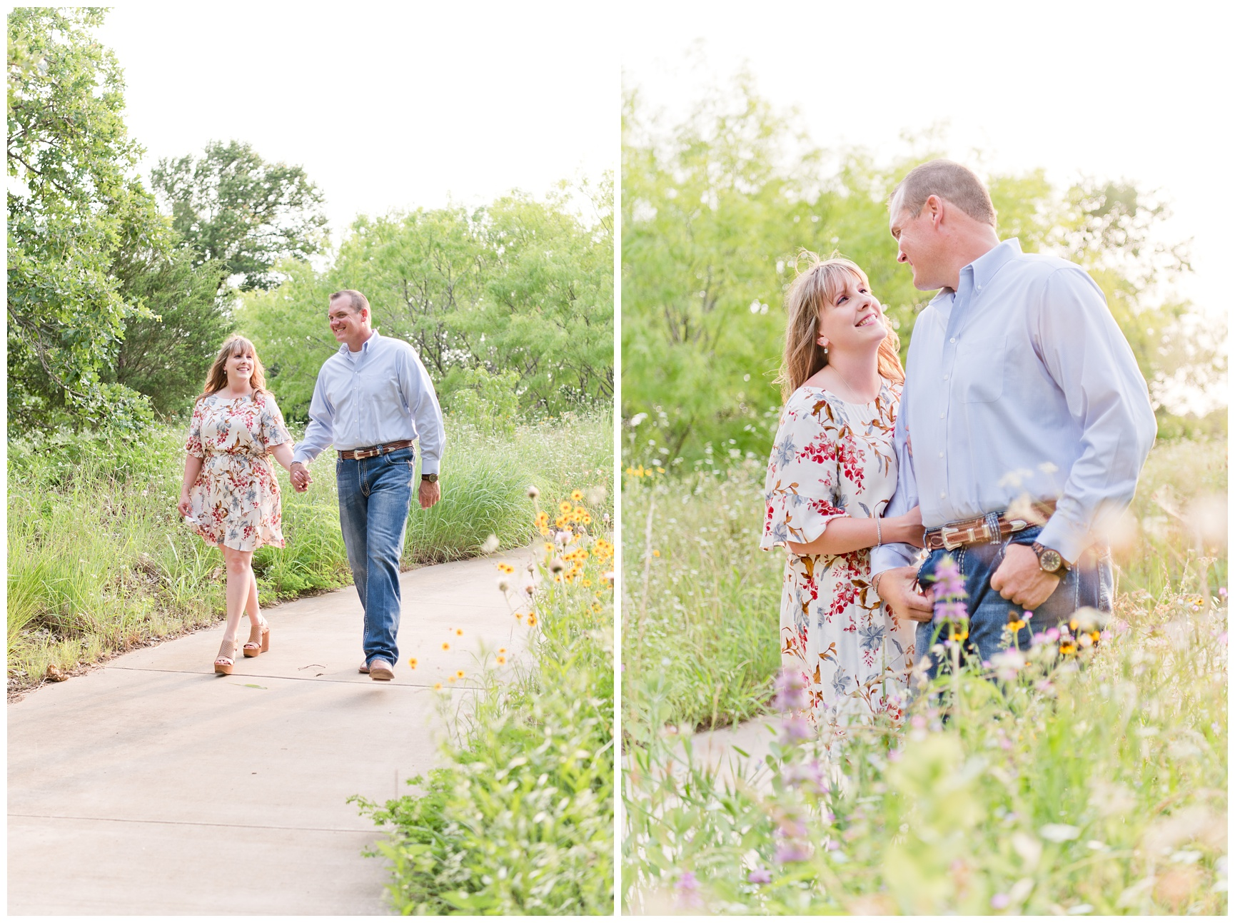 Texas Wildflower Engagement Session