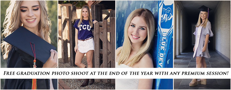 Free graduation shoot at end of year with premium session