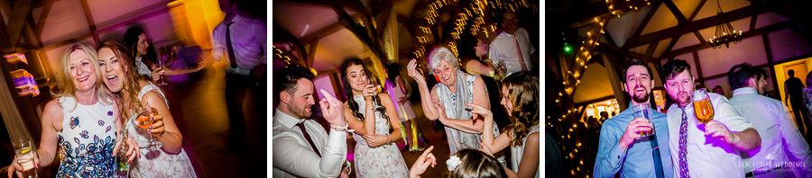 Wedding guests at Sandhole Oak Barn