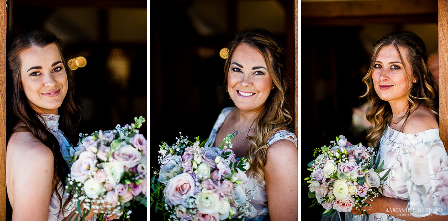 Bridesmaids at a wedding at Sandhole Oak Barn