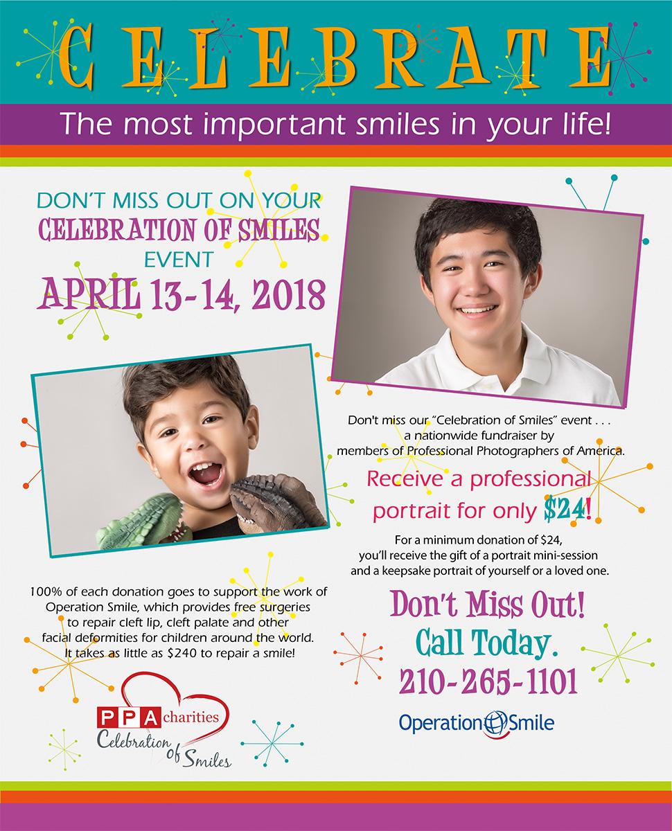 Celebration of Smiles Portrait Event