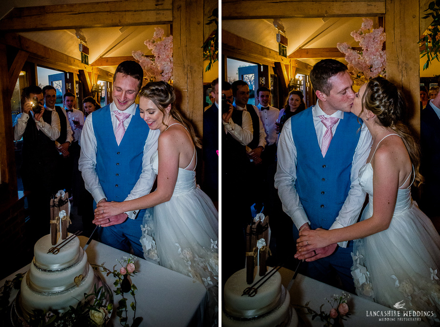 Cutting of the cake at Sandhole Oak Barn