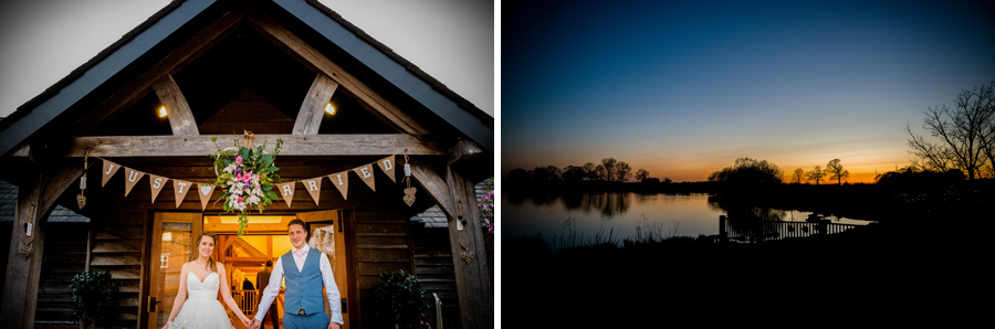 Beautiful sunset at Sandhole Oak Barn