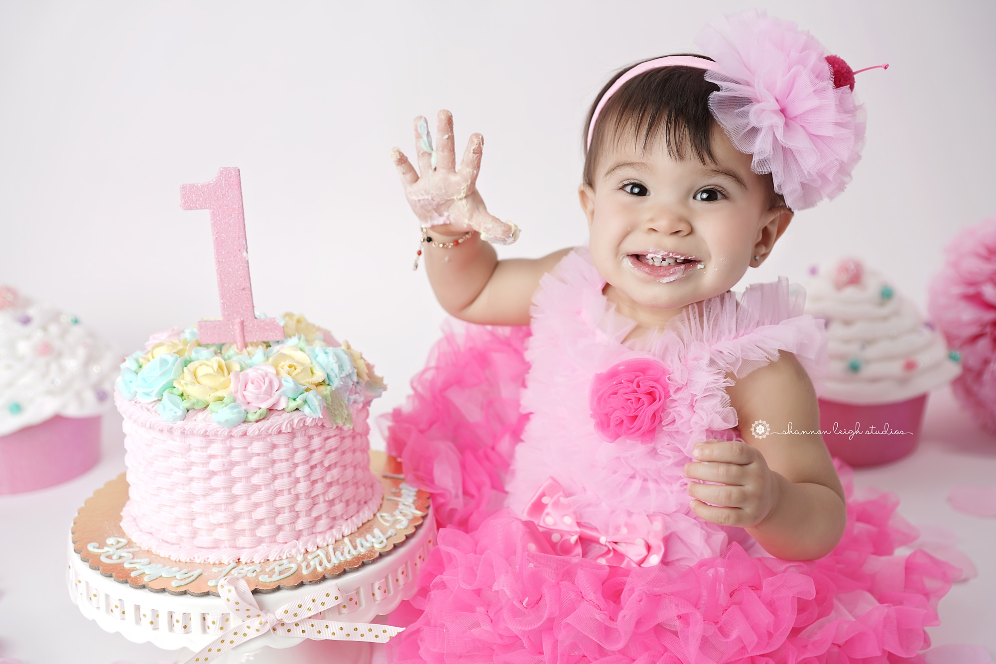 Fabulous Sophias First Birthday Pictures Atlanta Child Cake Smash Funny Birthday Cards Online Alyptdamsfinfo