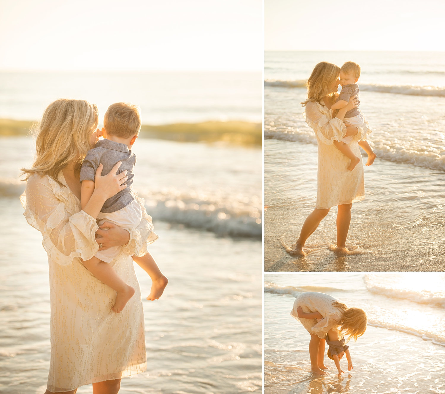 mother and son on beach, beach family photography, Naples, Florida, Ryaphotos