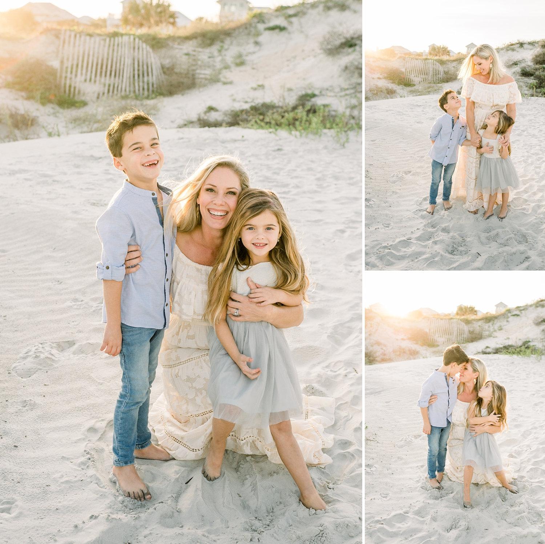 image collage, motherhood coastal portraits, motherhood coastal session