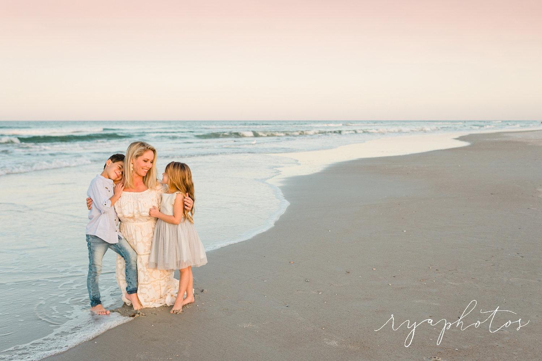 sunset family photos, Saint Augustine Beach, Florida, Rya Duncklee