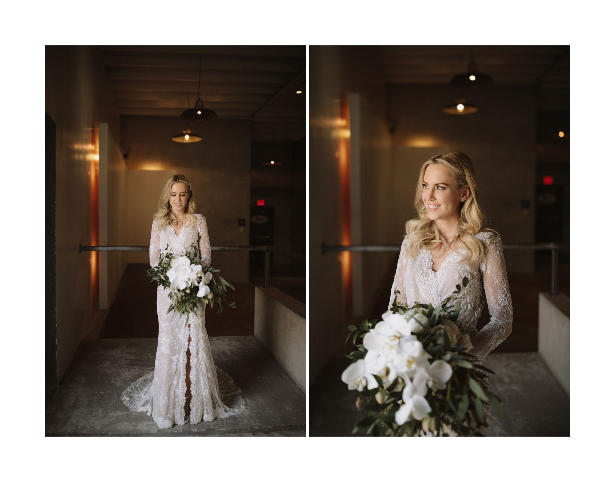 miami bride portrait at maps backlot