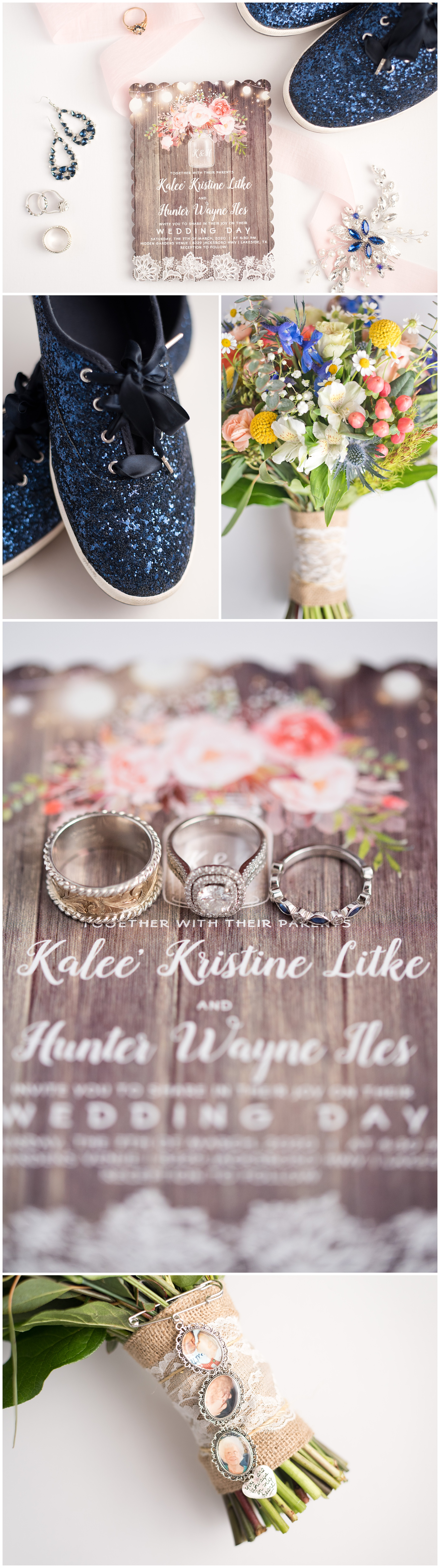 Sapphire and Pink Wedding Details Fort Worth Texas