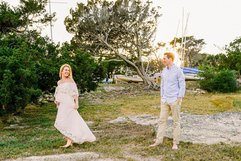 intercoastal Florida couple portrait, maternity portrait couple, Saint Augustine Beach, Rya Duncklee