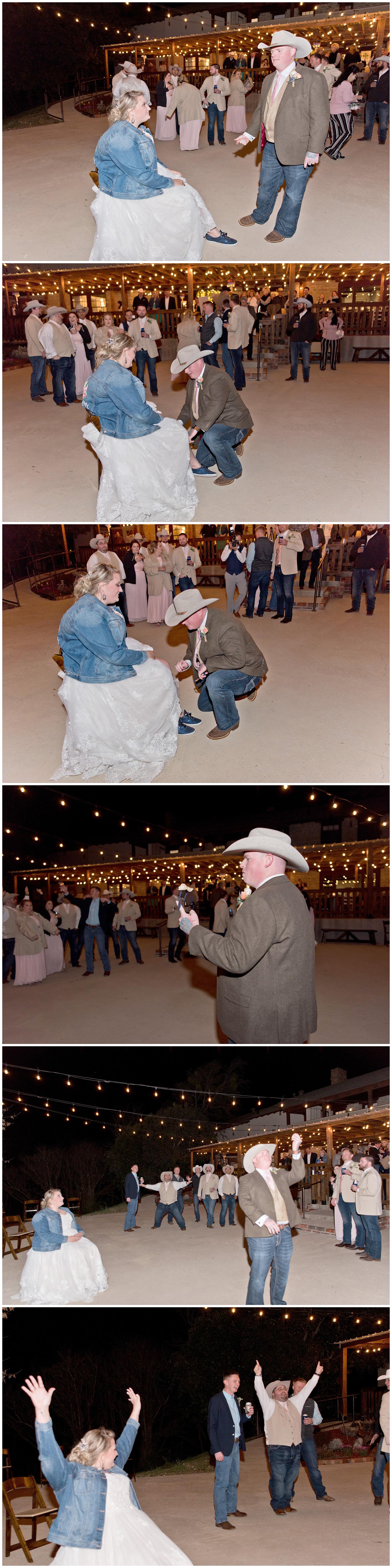Garter Toss Wedding Reception