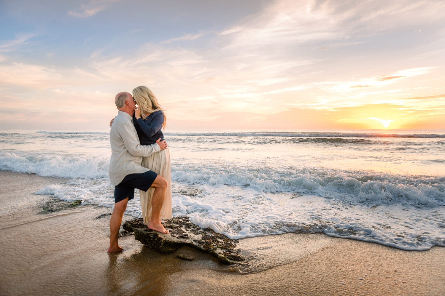 couple portrait, Saint Augustine Beach, Florida, Rya Duncklee, Ryaphotos